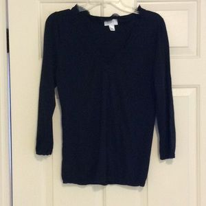 Loft black v-neck black sweater